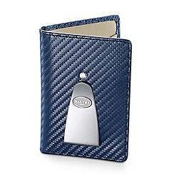 Dalvey - navy 'Continental' wallet with money clip