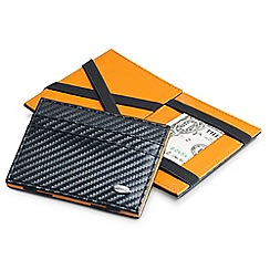 Dalvey - carbon fibre and orange 'Flip' wallet