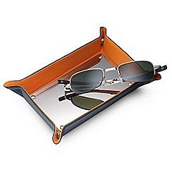 Dalvey - carbon fibre and orange leather change tray