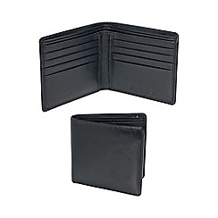 Kingsley - black leather 'RFID' basic wallet