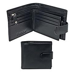 Kingsley - black leather 'RFID' tab wallet