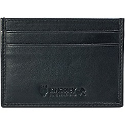 Kingsley - black leather 'RFID' credit card slip case