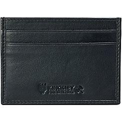 Kingsley - black leather 'RFID' credit card slip case