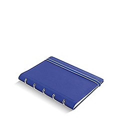 Filofax - blue refillable pocket notebook