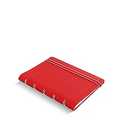 Filofax - Red refillable pocket notebook