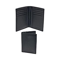 Kingsley - black leather 'RFID' slim wallet
