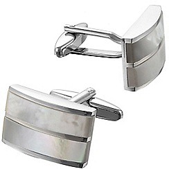 Gaventa - Genuine mother of pearl and rhodium cufflinks