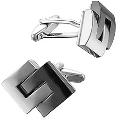 Gaventa - Rhodium and gunmetal interlinking cufflinks