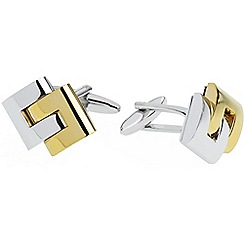 Gaventa - Rhodium and gold interlinking cufflinks