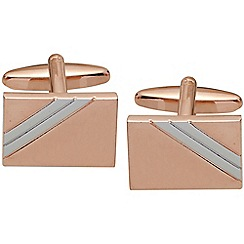Gaventa - Rose gold and rhodium two tone plated cufflinks