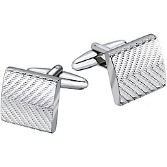 Gaventa - Rhodium machine patterned cufflinks