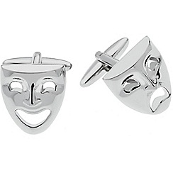 Gaventa - Rhodium novelty theatre mask cufflinks