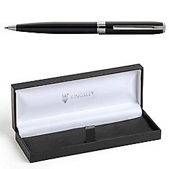 Kingsley - Black 'Ashley' ballpoint pen