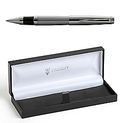 Kingsley - Chrome 'Chequer' rollerball