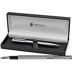 Kingsley - Chrome 'Eliot' fountain pen/ball pen