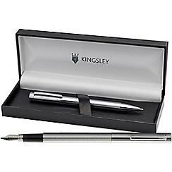 Kingsley - Chrome 'Eliot' fountain pen/ball pen