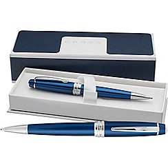 Cross - Blue 'Bailey' ball pen with free matching pencil