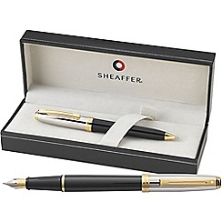 Sheaffer - Black & palladium 'Prelude' fountain pen/ball pen