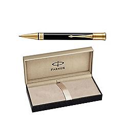 Parker - Classic black gold trim 'Duofold' ball pen