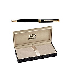 Parker - Laque black gold trim 'Sonnet' ball pen