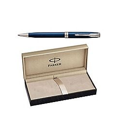 Parker - Blue laquer palladium trim 'Sonnet' ball pen