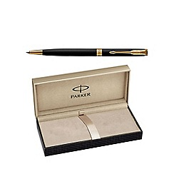 Parker - Matt black gold trim 'Sonnet' slim ball pen