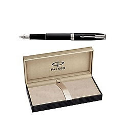 Parker - Matt black palladium trim 'Sonnet' fountain pen
