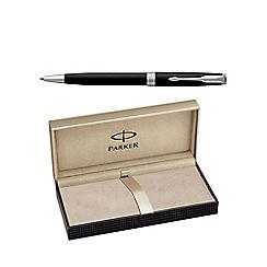 Parker - Matt black palladium trim 'Sonnet' ball pen