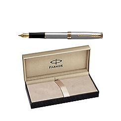 Parker - Stainless steel gold trim 'Sonnet' fountain pen