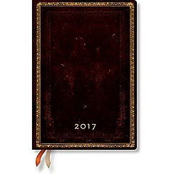 Paperblanks - 'Black Moroccan' midi day-per-page 2017 diary