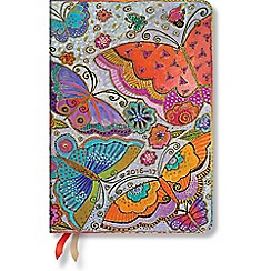 Paperblanks - 'Flutterbyes' midi day-per-page 2017 diary