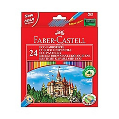 Faber Castell - Eco' coloured pencils - 24 pack with sharpener