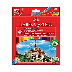 Faber Castell - Eco' coloured pencils - 48 pack with sharpener