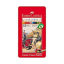 Faber Castell - Classic coloured pencils - tin of 12