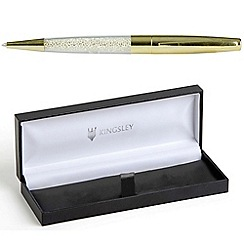 Kingsley - Gold 'Galaxi' crystal ball pen