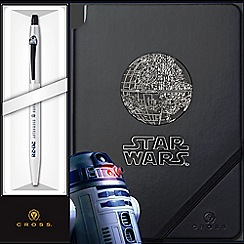 Cross - Star Wars R2D2 White 'Click' Rollerball + Journal Set