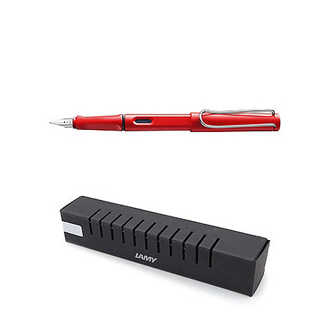 Lamy - Red 'safari' fountain pen