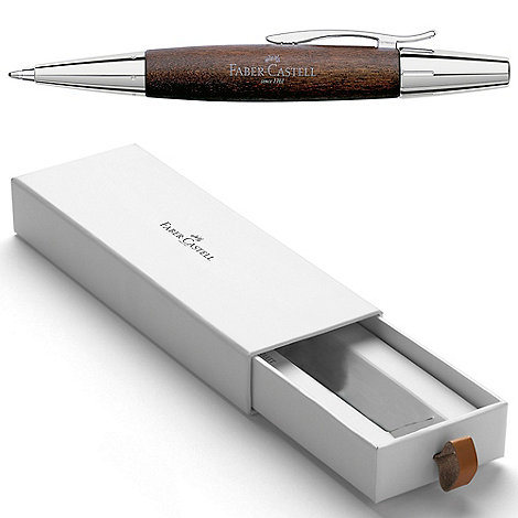 Faber Castell - Brown wood E-motion ball pen