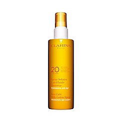 Clarins - Sun care spray gentle milk lotion UVB 20 moderate protection 150ml
