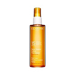 Clarins - 'Sun Care' moderate protection UVB and UVA 15 oil free lotion spray 150ml