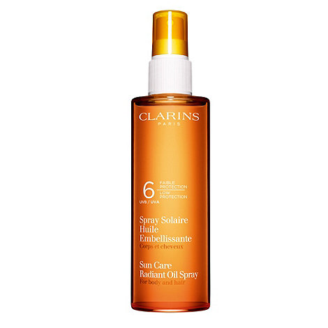 Clarins - +Sun Care+ low protection UVB and UVA 6 radiant oil spray 150ml