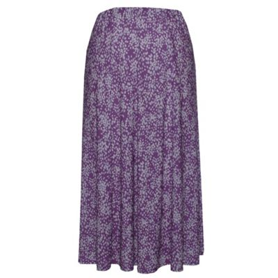 Eastex Mauve Mini bean flared jersey skirt product image