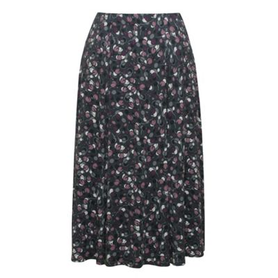 Eastex Grey multi mini floral flared skirt product image