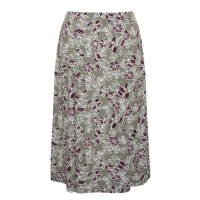 Green Multi Coleus Jersey Skirt