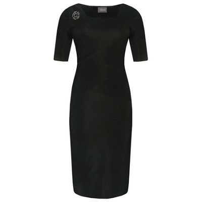 £64.4 Black Body Con Dress With Sleeve