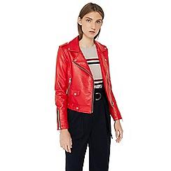 Mango - Red 'J Liz' biker jacket