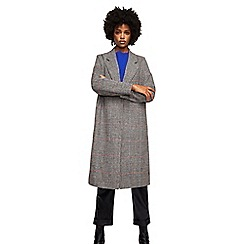 Mango - Black Prince of Wales checked 'Bradche' overcoat