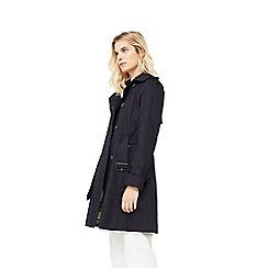 Mango - Navy 'Polna' double breasted trench coat