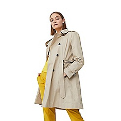 Mango - Cream 'Polna' double breasted trench coat