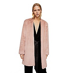 Mango - Pastel pink 'Furry' coat